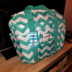 Utility Tote and Nurse Bag Turquoise Green